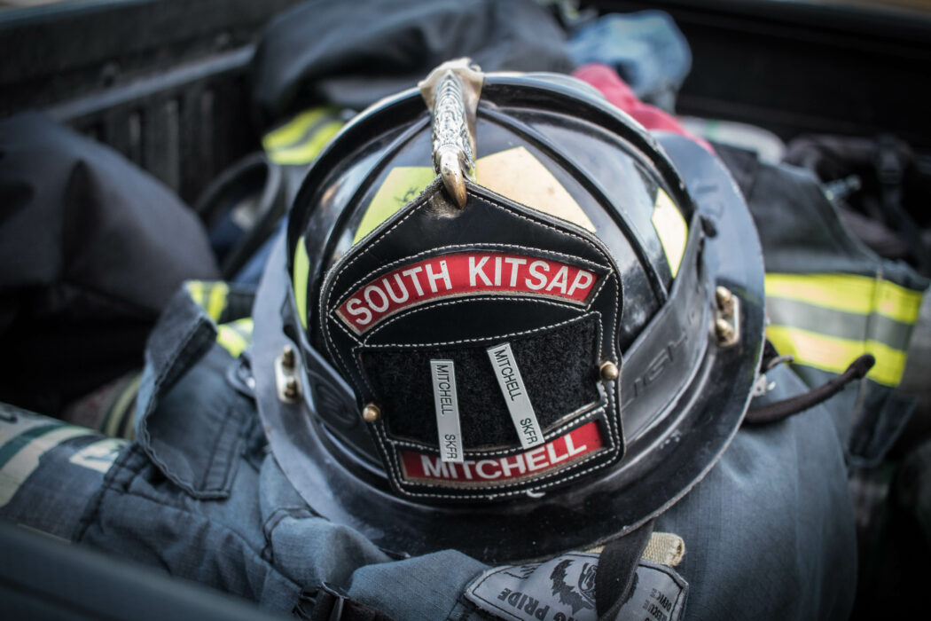 Andy Mitchell South Kitsap Fire Helmet